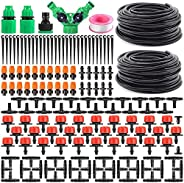 Marlamall Garden Automatic Drip Irrigation Set,30m Adjustable Micro DIY Irrigation Kit Plant Water Saving Syst