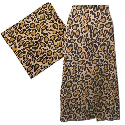 Pareo estampado leopardo 100x180cm sarong algodón batik diseño playa pañuelo