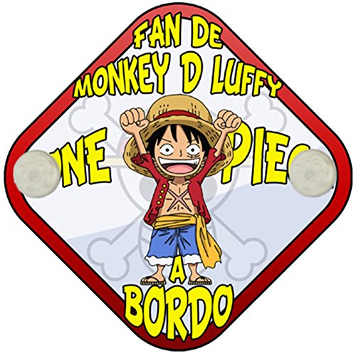 Placa bebé a bordo fan de Monkey D Luffy a bordo One Piece