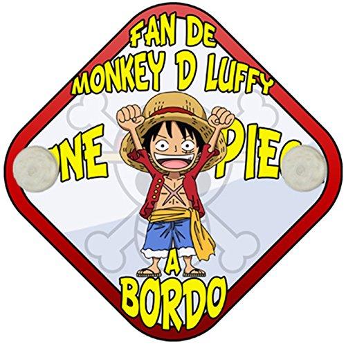 Placa bebé a bordo fan de Monkey D Luffy a bordo One Piece