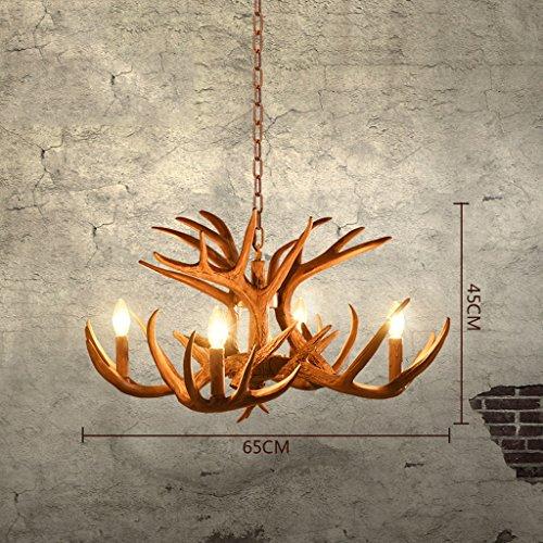 & Perfect ** - Amerikanische Geweihe Kronleuchter Geweihe Lampe Wohnzimmer Restaurant Bar Retro Art Mediterran Bar personalisierte Kreativität Geweihe Kronleuchter (Geweih Montiert)