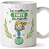 Mugffins Tata Mug/Tasse – Meilleure Tante du Monde - Tasse Originale/Cadeau Anniversaire/Future Tatie. Céramique 350 ML