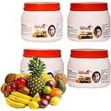 Nice & Nature Fruit Facial Kit Parlour Pack (Massage Cream, Scrub, Gel, 450gx4)