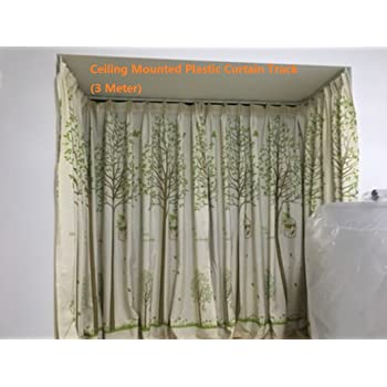 Strong Bendable Plastic Curtain Track 3 Meters Straight Curved Ceiling Mounted Meter