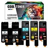 Cool Toner 5-Packung Kompatibel Toner für Dell 1250 1250C 1350CNW 1355CN 1355CNW, C1765NFW C1760NW C1765NF C1765NFW, Kompatibel für 593-11016 593-11021 593-11018 593-11019