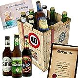 Geschenk Ideen zum 40. für Männer - Bier Geschenk Box + gratis Geschenkkarten + Bierbewertungsbogen. Henninger + Schlappeseppel + Köstritzer + ...Bierset + Biergeschenk. Bier Geschenke für Männer. Besser als Bier selber machen oder selbst brauen: Geburtstagsgeschenk Geburtstagsbier Geschenkideen für Männer lustige Geschenke Geburtstagsgeschenk Freund 40 zum Geburtstag Geschenkideen 40 Männer zum Geburtstag Geschenkideen 40