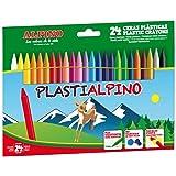 Ceras de Colores Plasti Alpino PA000024- Estuche de Ceras para Niños de 24 Unidades - Lápices de Cera para Manualidades y Uso
