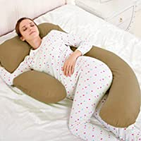 Novo 2.25Kg Pp Cotton Comfort Pillow, Brown - 175X80X25Cm, Free Size
