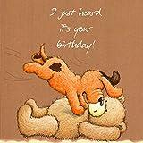 twizler Popcorn der Bär Happy Birthday–Dog–Geburtstag Karte für Ihre–Geburtstag für Ihn–Weiblich Geburtstag Karte–Stecker Geburtstag–Mädchen Geburtstag Karte–Jungen Geburtstag–Cute Geburtstag Karte