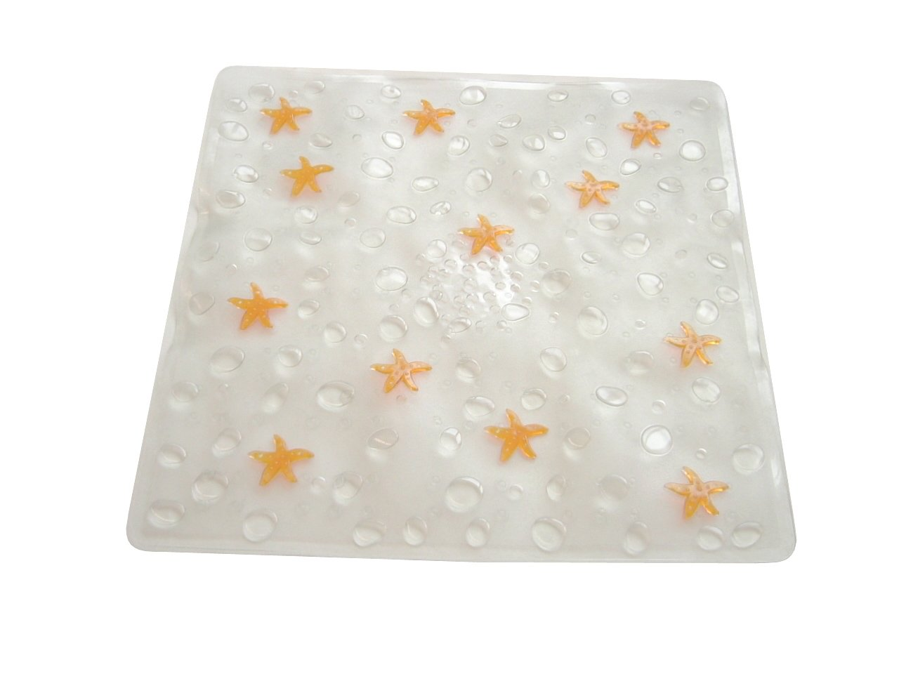 Dintex Estrella – Alfombra Antideslizante para Ducha, 55 x 55 cm, Color Naranja