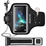 Galaxy S20/S10/S9/S8 Armband, JEMACHE Gym Running Exercises Workouts Phone Arm Band for Samsung Galaxy S20 S10 S9 S8 S7 Edge