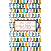 18 Month Weekly Planner 2019-2020: Bright rain boots on this handy weekly planner will keep the storm clouds away from your busy schedule for a full 18 months! (Welly Planner)