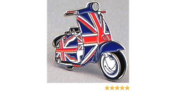 Lambretta Vespa Scooter Mod Union Jack Hard Enamel Quality Lapel  Pin Badge
