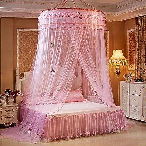 Rideau Dome Moustiquaire ciel de lit queen King size Cadeau Dream Catcher lumineux Papillon Kit complet de à suspendre