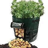 HKFV DIY Kartoffel wachsen Pflanzer PE-Stoff, der Behälterbeutel pflanzt Garten Pflanztasche Gartentopf