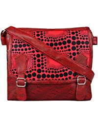FirstBlush Polka Dot Printed Red Sling Bag / Side Bags / Cross Bag / Body Cross Bag For Girls / Women
