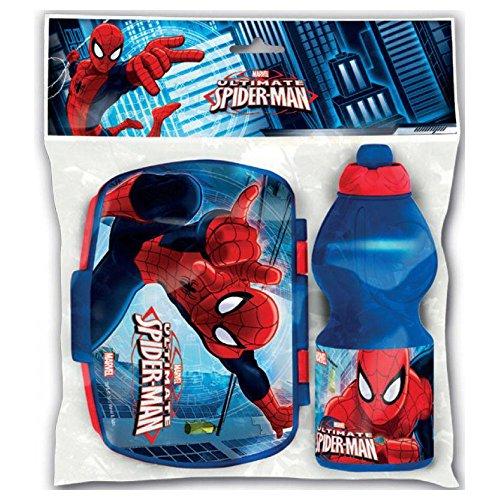 Spiderman Set Sport Flasche und Sandwichmaker eckig Ultimate (0/12)