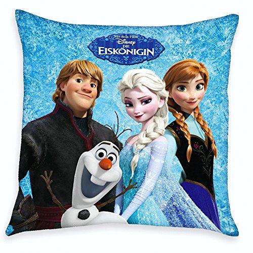 Disney Eiskönigin Frozen - Kinder Kissen Dekokissen Anna, Elsa & Kristoff 40x40cm