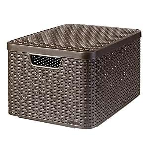 curver style l storage boxes baskets storage basket. Black Bedroom Furniture Sets. Home Design Ideas