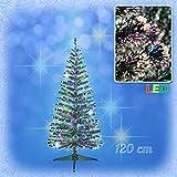 Weihnachtsbaum mit farbwechselnden Lichtfasern, 120 cm, inkl. Netzadapter und Ständer / Christbaum LED / Christmas tree