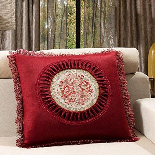 versione europea contenente cuscino decorativo, cuscino ricamato