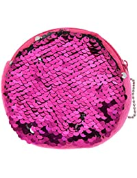 Kabello Stylish Mermaid Dual Color Sequins Bag Pouch For Women, 20 Grams, Pink, Pack Of 1