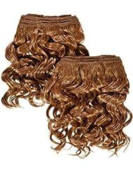 chear espagnol Wave 2en 1trame Extension de cheveux humains avec de mélange tissage numéro 30Auburn Moyen,...