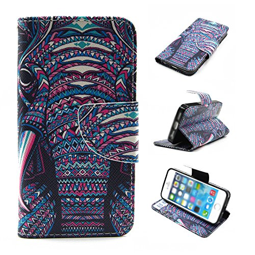 Nutbro iPhone 6S Plus Case, iPhone 6 Plus Case, 5.5 inch, PU Leather Wallet [Stand Feature] with Built-in Credit Card Slots Wallet Case for iPhone 6S Plus / iPhone 6 Plus [5.5 inch] HX-6Plus-19