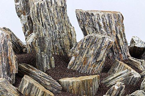 Aquarium Rock Fish Tank Decoration Slate 100% Natural Ideal For Caves WOOD STONE 10kg Set 7