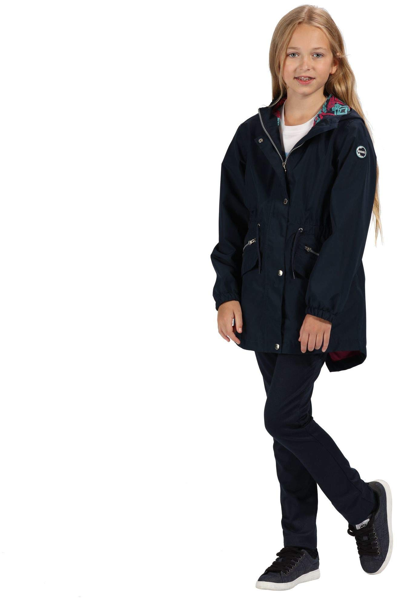 Regatta Kid's Tamora Waterproof and Breathable Fishtail Hem Hooded Outdoor Jacket 3