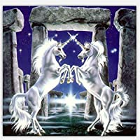 Byeel DIY 5D Diamond Painting by Number Kits Drill Rhinestone Embroidery Cross Stitch Pictures Arts Craft for Home Wall Decor Unicorn Horse(A,)