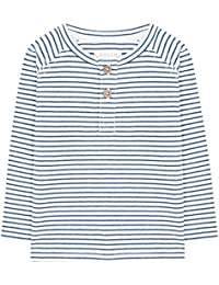Gocco Rayas Azul, Camiseta de Manga Larga para Bebés