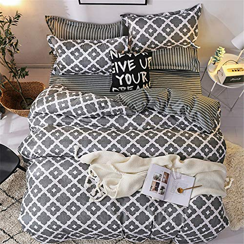 YUNSW Pattern Print Bettbezug Full King Queen Twin Doppel Single Size Bettwäsche Set Kinder Bettwäsche B 210x210cm (Blaue Bettwäsche-sets Queen Für Teens)