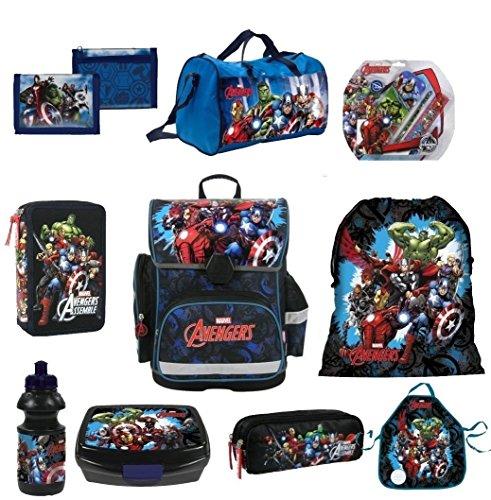 AVENGERS Hulk Thor XL 14 Teile SCHULRANZEN SET RANZEN FEDERMAPPE RUCKSACK TASCHE + Sticker von Kids4shop