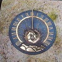 Giardino sogno metallo meridiana ottone–Apollo, (Metallo Meridiana)