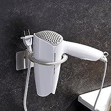 ZUNTO Adesivo Porta asciugacapelli da parete- fissaggio senza trapano, Acciaio Inox