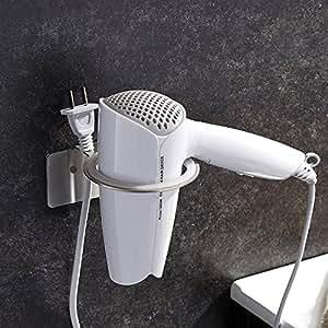zunto haartrocknerhalter ohne bohren selbstklebend f nhalter geb rstetem edelstahl f nhalterung. Black Bedroom Furniture Sets. Home Design Ideas