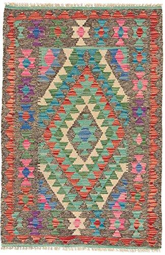 CarpetFine: Alfombra Kilim Afghan 78x120 cm Tejida