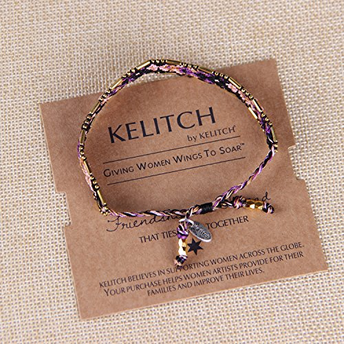 KELITCH Multi Strand Corde Perles de Rocaille Gland Amitié Bracelet #01