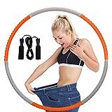 Queta Hula Hoop Volwassene, Gewichtsverlies Volwassen Roestvrij Staal Spons Massage Dunne Taille Hula Hoop Voor Volwassenen,