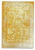 Barefoot Tapis Afghan Vintage Moderne Viscose Soie Artificielle, Gris argenté, 100 x 140 cm...