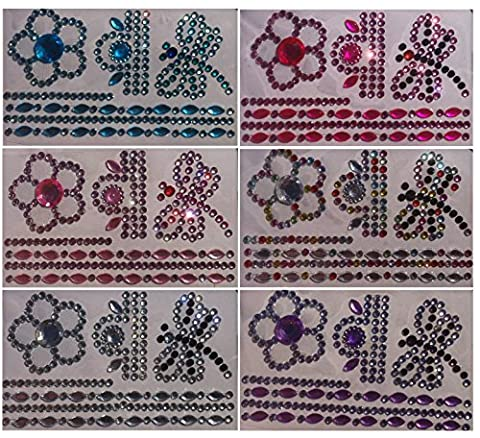 663 Pieces Sparkling Jewellery Gems/Rhinestones Diamante Encrusted Dragonfly Self-Adhesive Coloured Craft Crown Adhesive Sticker Gltzer Mix Heart Round Square Drops for Making Crystal King purple