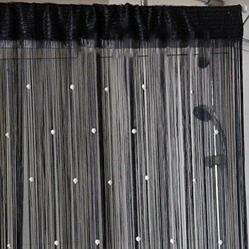 Cortina de Línea con Perla para Decorar Salón Habitación Tienda Ventana Puerta 100*200cm
