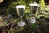Antikas Zwei Trinkkelche | Silberbecher - stilvolle Weinkelche | versilbert
