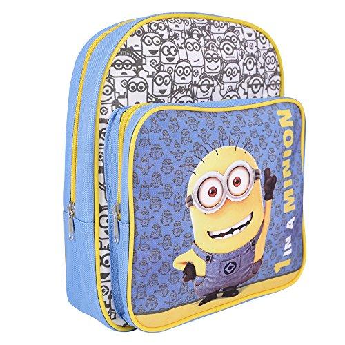 Jungen Ich Einfach unverbesserlich - Schulranzen mit Bob Minions - Schulrucksack für Schule und Kindergarten mit verstellbaren Schulterriemen - Perletti 30x24x6,5 cm (Minion Bob Kinder Kostüme)