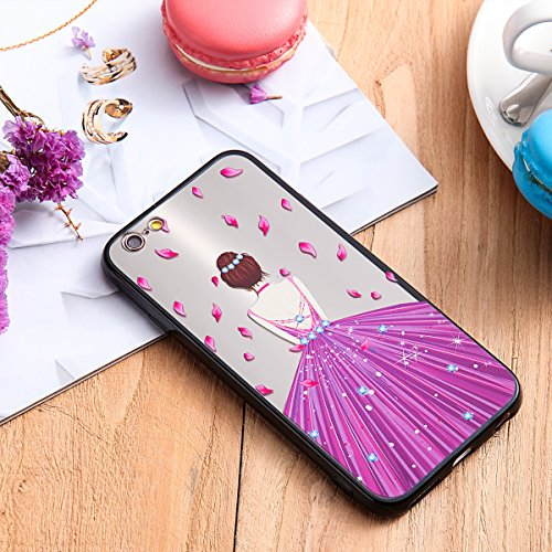 Custodia iPhone 6 Plus, iPhone 6S Plus Cover Silicone, SainCat Custodia in Silicone Morbida e Hard PC Protettiva Cover per iPhone 6/6S Plus, Custodia Antiurto Ultra Slim Silicone Case Ultra Sottile So Gonna Viola