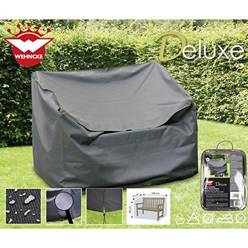Deluxe Schutzhülle für Gartenbänke, 160x75cm, Polyester 420D - Garten Bank Gartenmöbel Schutz Hülle Abdeckung Tragetasche Plane