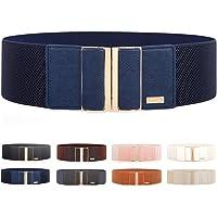 Women's Stretch Elasticated Belts Elasticated Belts Wide Belts Dress Belts Thin Belts For High Gloss Metallic Buckle…