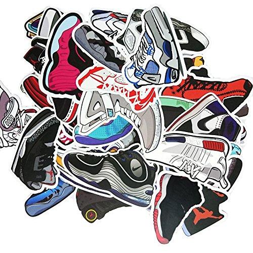 [25 Stücke] Turnschuh Aufkleber - Auto, Laptop, Gepäck, Skateboard Graffiti Jordan Aufkleber