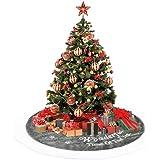 Anyingkai Falda de Árbol de Navidad,Pie de Árbol de Navidad,Pies de Árbol de Navidad,Felpa Base de Árbol de Navidad,Falda de